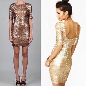 Ark & Co bronze beginnings sequin dress